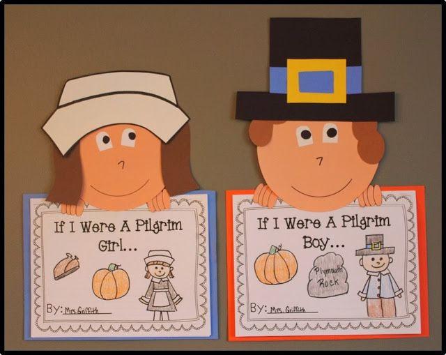 Pilgrim Books & Crafts - Students write as if they were Pilgrim children.