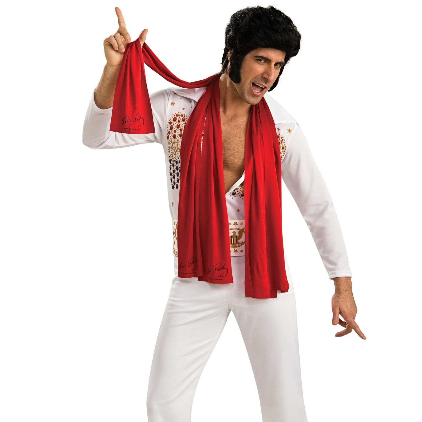 Elvis Presley Scarves Costume Accessories (3 Pieces