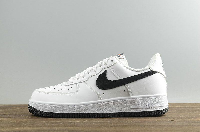 timeless design fcda8 db2d8 Nike Air Force 1 Low GS White Black Mens Skate Sneaker 596728-182
