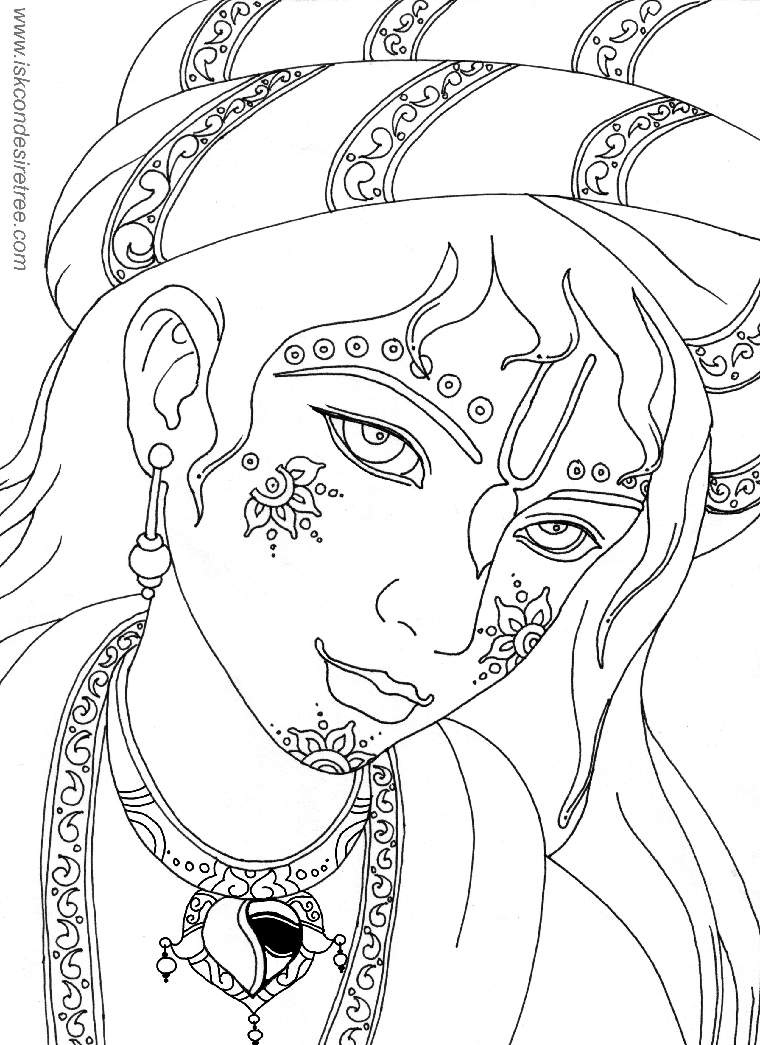 Lord Krishna Coloring Pages   Duam