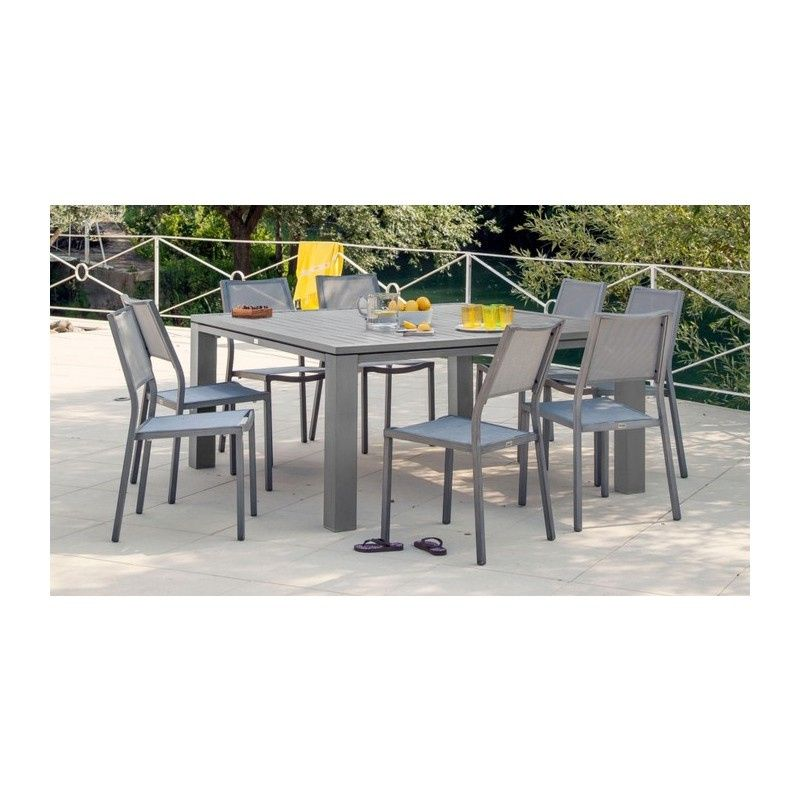 880 table de jardin carree fiero 160x160 cm proloisirs ...