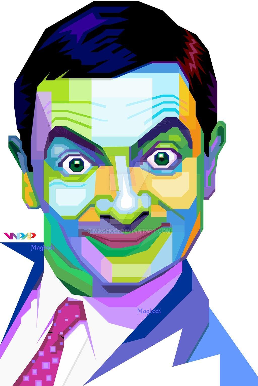 Mr Bean Pop Art Drawing Wpap Art Pop Art Portraits