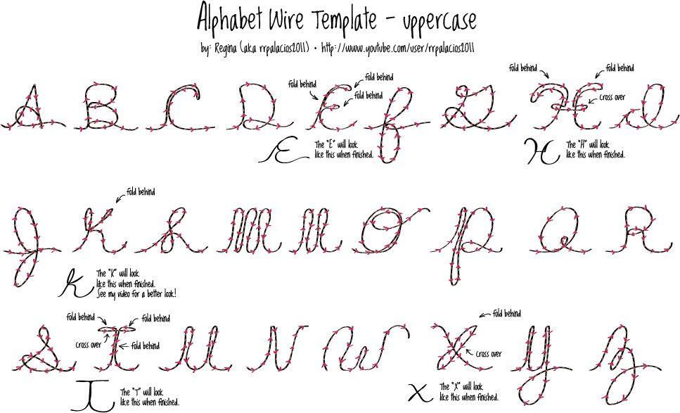 Wire alphabet | ideas | Pinterest | Deko