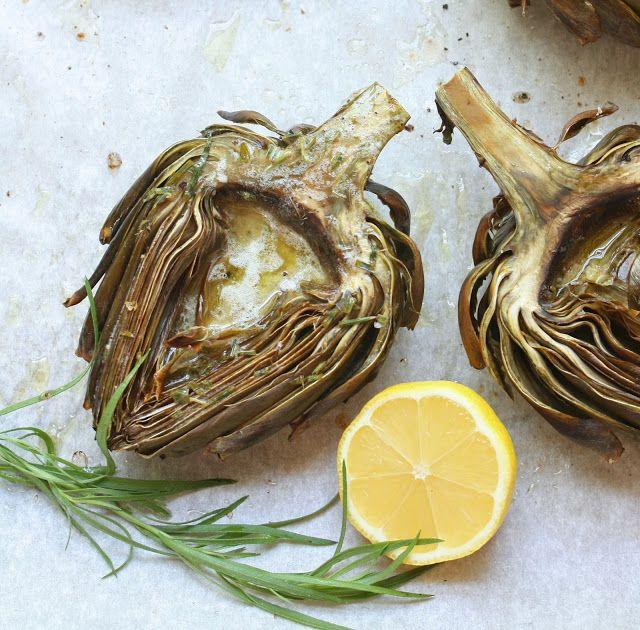 Roasted Artichokes w/ Lemon Tarragon Butter - I Breathe... I'm Hungry...