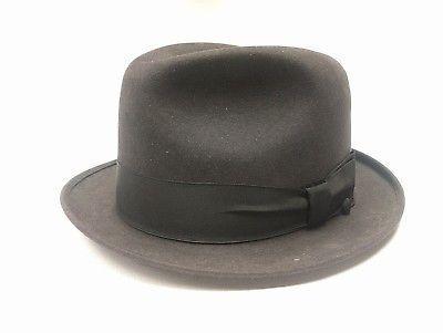 1cbe453da06 Vintage Men s CHAMP Black Feel The Felt Fedora Hat Kasmir Finish Size 7 1 4