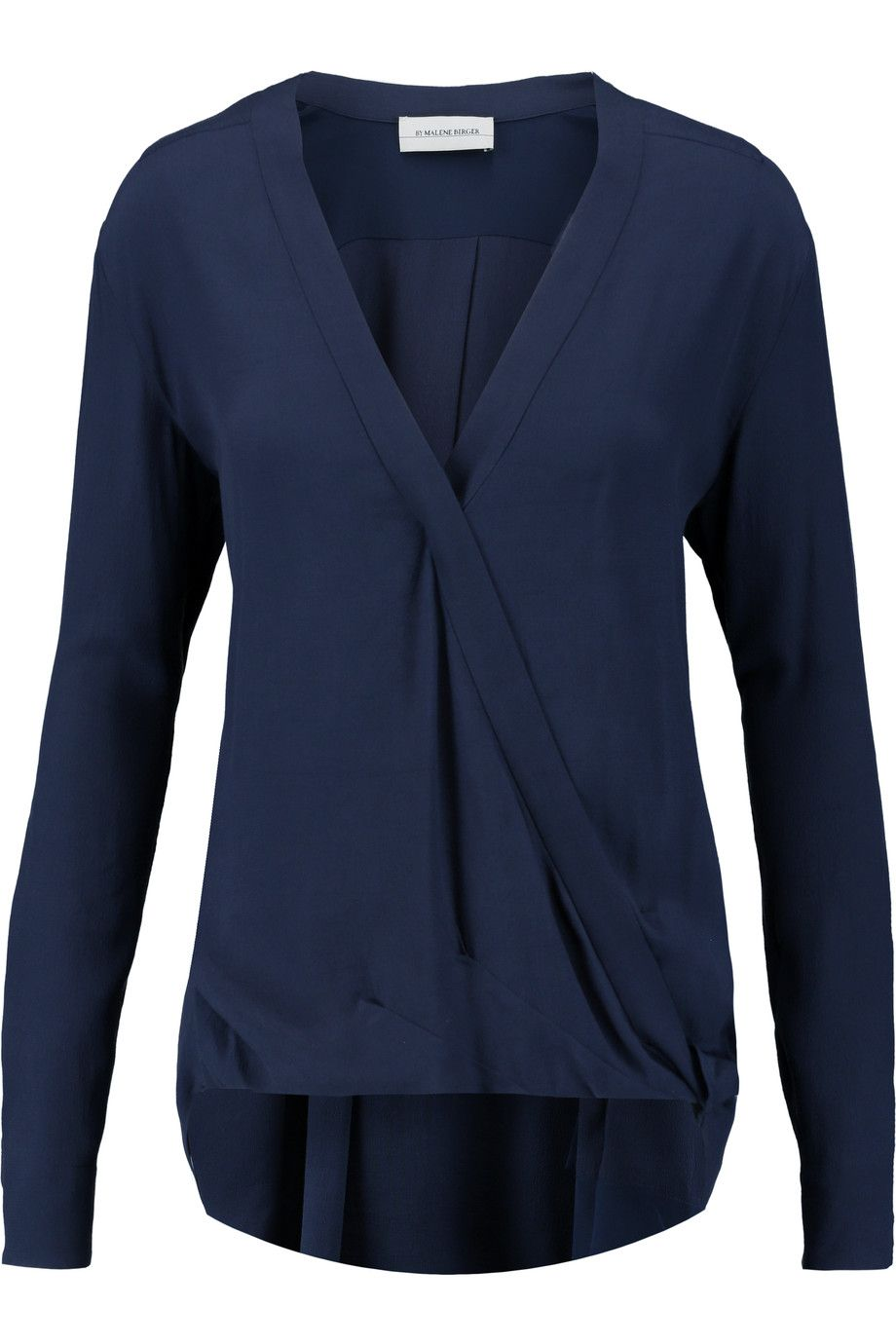 e9206dc1b2c85 BY MALENE BIRGER Hailey wrap-effect crepe blouse.  bymalenebirger  cloth   blouse