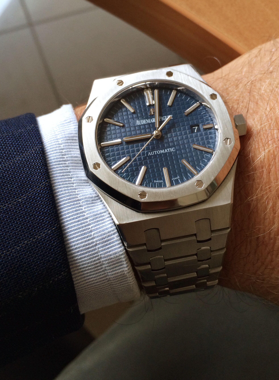 Ap 15400 dial blu | Audemars Piguet in 2019 | Watches ...