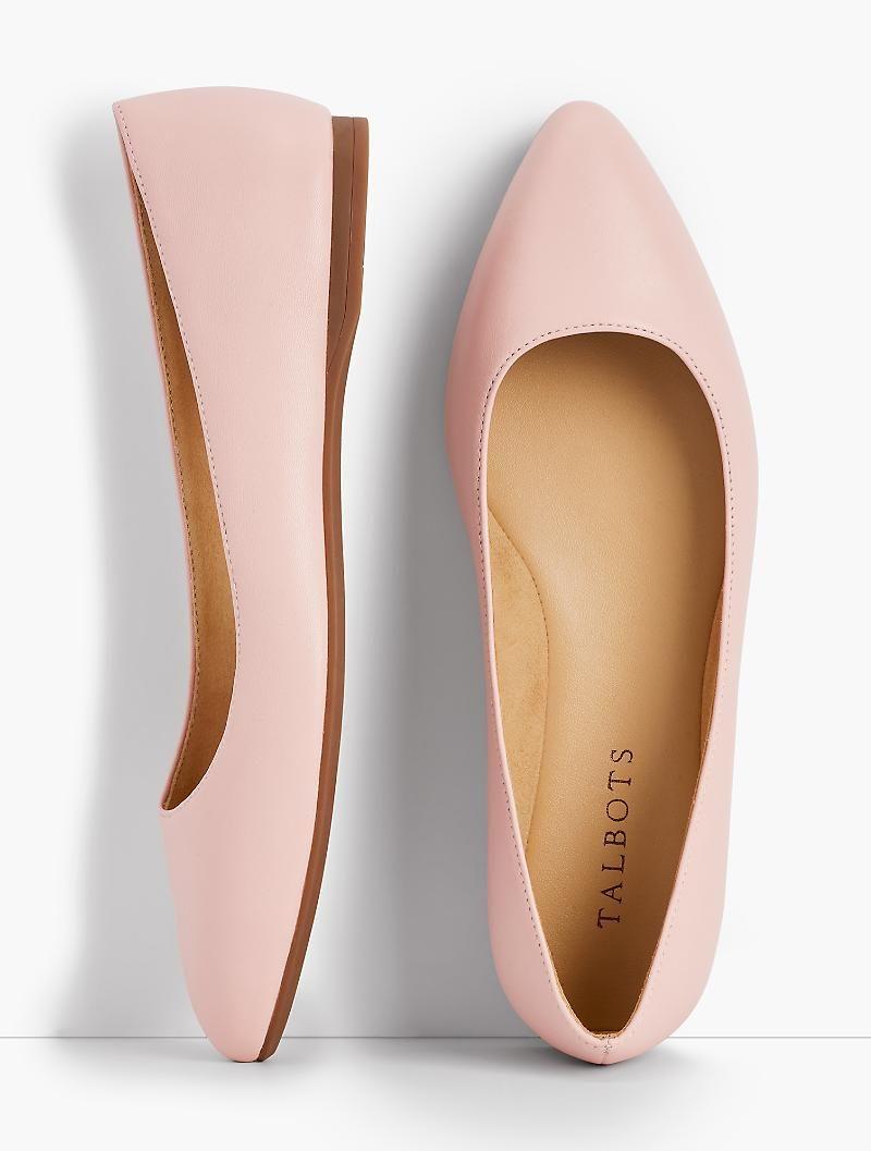 d9b97b98b5d4 Poppy Pointed-Toe Ballet Flats - Nappa Leather