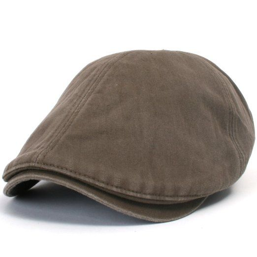 9ae9ad6f61787 Amazon.com  ililily New Men¡¯s Cotton washing Flat Cap Cabbie Hat Gatsby  Ivy Caps Irish Hunting Hats Newsboy with Stretch fit - 003-4  Cloth.