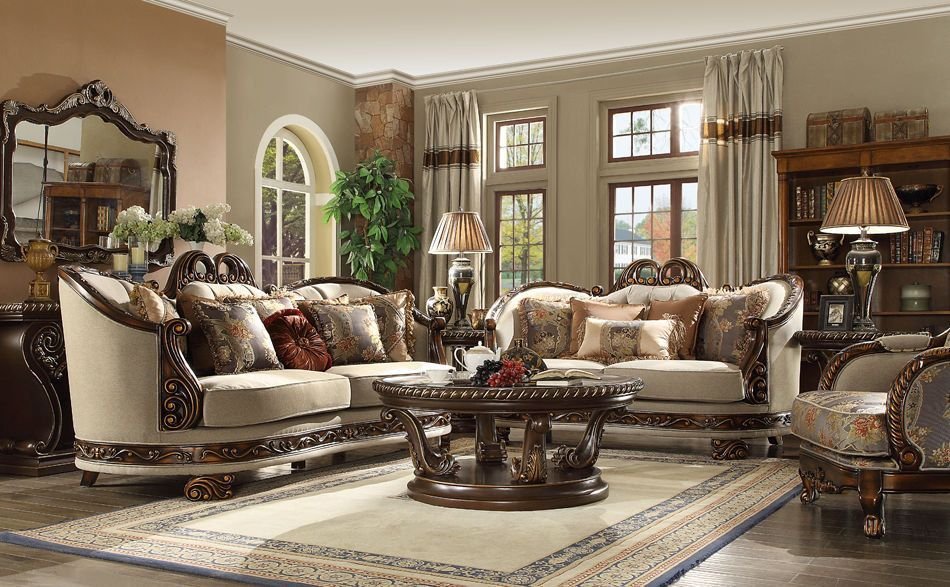 New Formal Luxury Classic European Style 5 Piece Living Room Set Hd