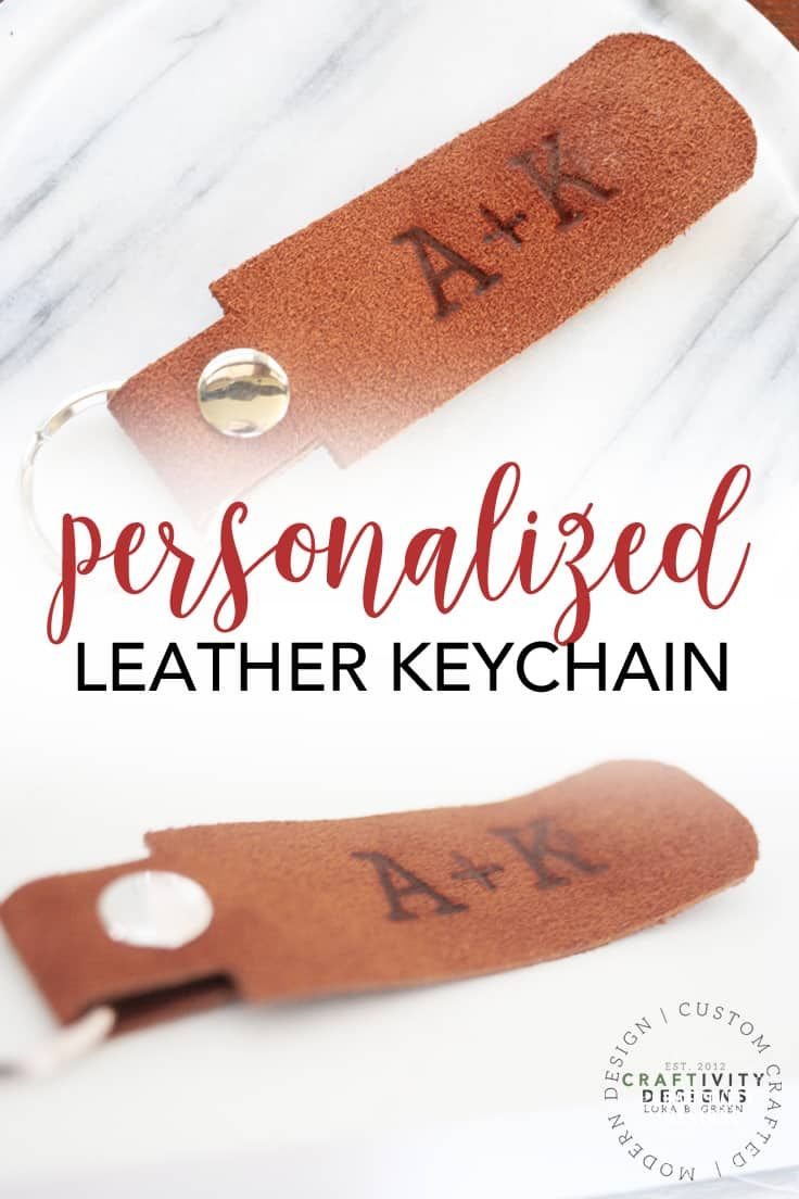 How to Make Your Own Keychain with Leather - Make your own keychain, Leather craft projects, Diy crafts for adults, Hand crafted gifts, Handmade gifts for men, Craft projects for adults - Learn how to make your own keychain with leather  This simple leather craft project makes a great gift for him (and is perfect for Valentine's Day)!