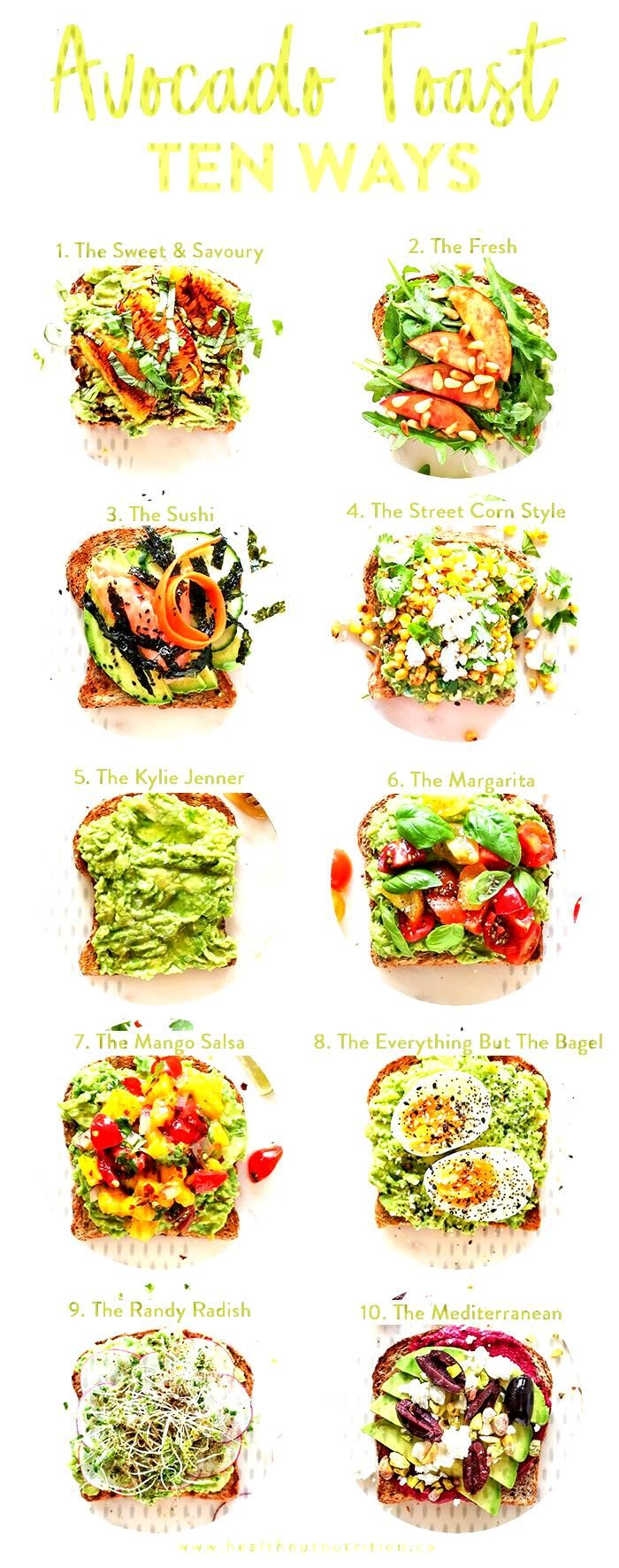 10 easy ways to fancy up your avocado toast for breakfast, lunch and yes, even dinner! toast How to