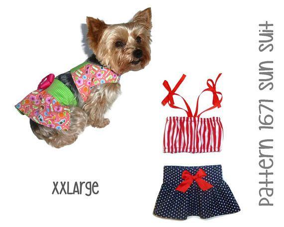 Dog Sun Suit Sewing Pattern 1671 Pet Dog Swimsuits Dog Bathing