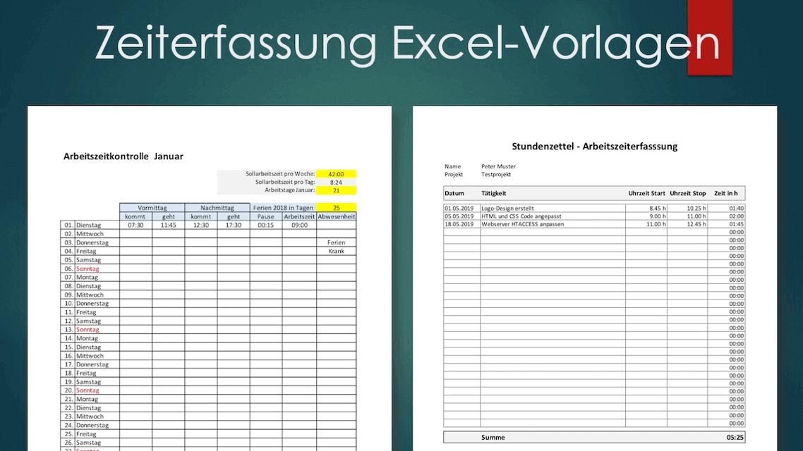 Zeiterfassung Excel Vorlage Schweiz Kostenlos Downloaden