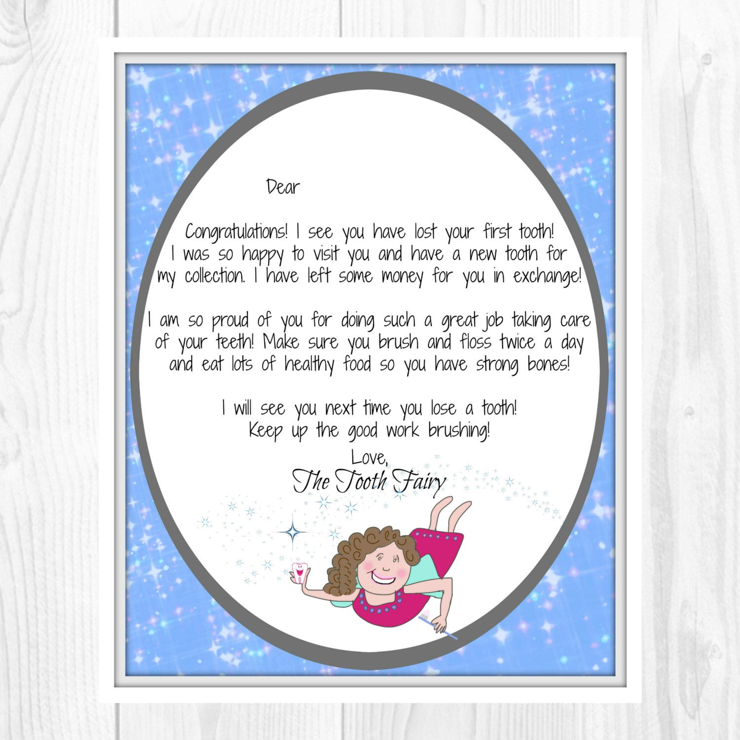 Tooth Fairy Letter First Tooth Aildoc Productoseb Co