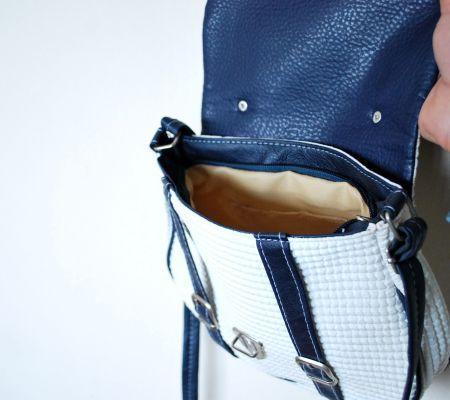 Photo of Navy Blue-White Circle Shoulder Bag Opuspocus Butik-26 TL www.opuspocusbuti …