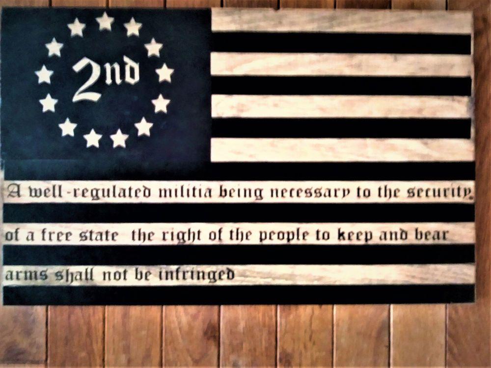 2nd Second Amendment Vintage Betsy Ross American Flag Tin Sign 11 x 16 USA Ship