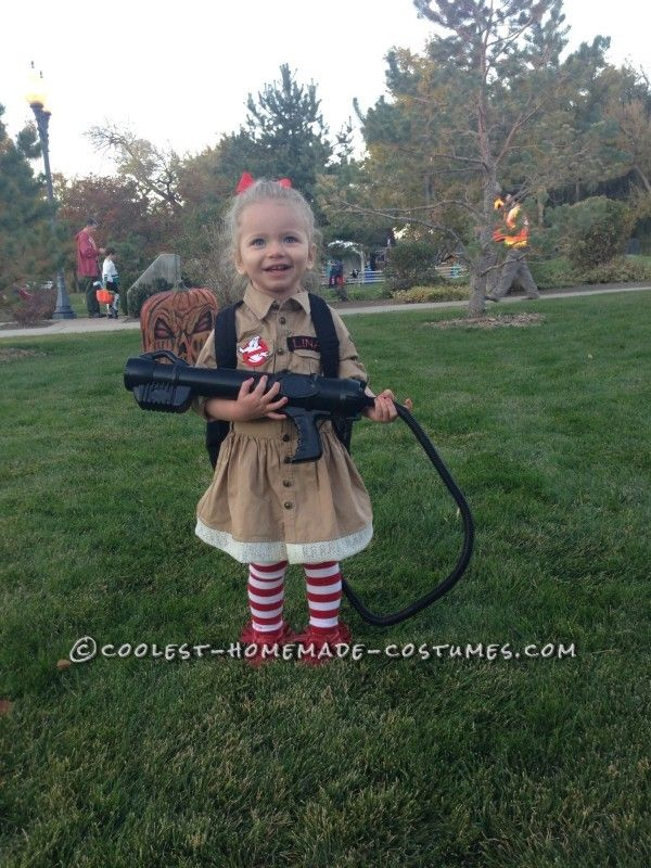 Cute Toddler Ghost Buster Costume  sc 1 st  Pinterest & Cute Toddler Ghost Buster Costume | Homemade halloween Halloween ...