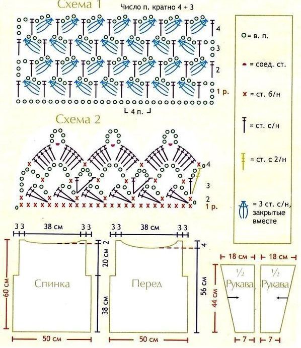 Crochet patterns with diagram search for wiring diagrams long sleeves crochet top pattern pinterest diagram free crochet rh pinterest com crochet pattern diagram software crochet patterns with diagrams ccuart Choice Image