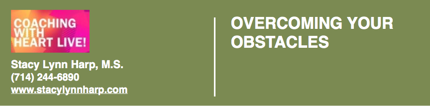 Overcoming Your Obstacles for Free #onselz - Click to download this free worksheet!