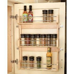For Inside Kitchen Cabinets Hmmmm Door Mounted Spice Rack Wood Spice Rack Door Spice Rack