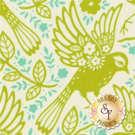 Up Parasol Pwhb047 Chart Chartreuse Meadowlark By Heather Bailey For