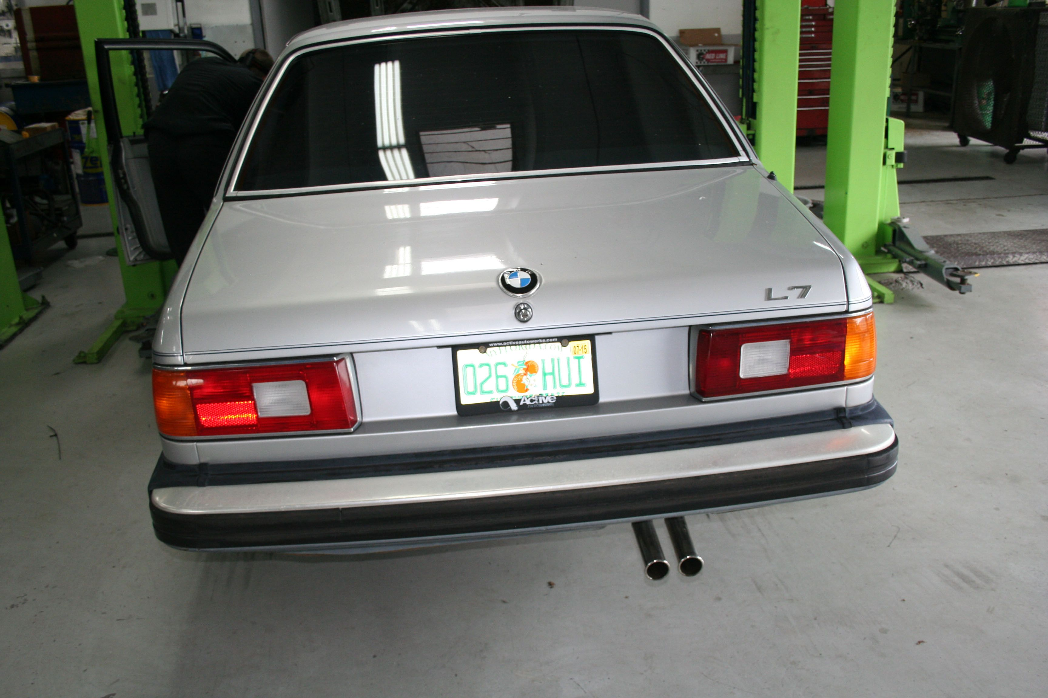 BMW E23 L7. Definitely a classic. Having some work done