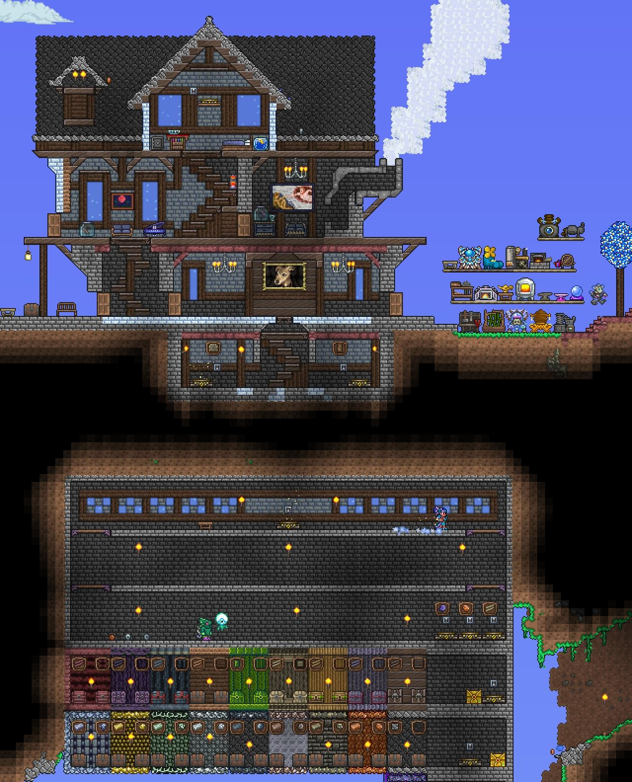 Terraria House Houseidea Terraria Construcao