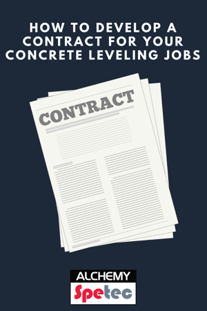 How To Develop A Contract For Your Concrete Leveling Jobs Development Concrete Job