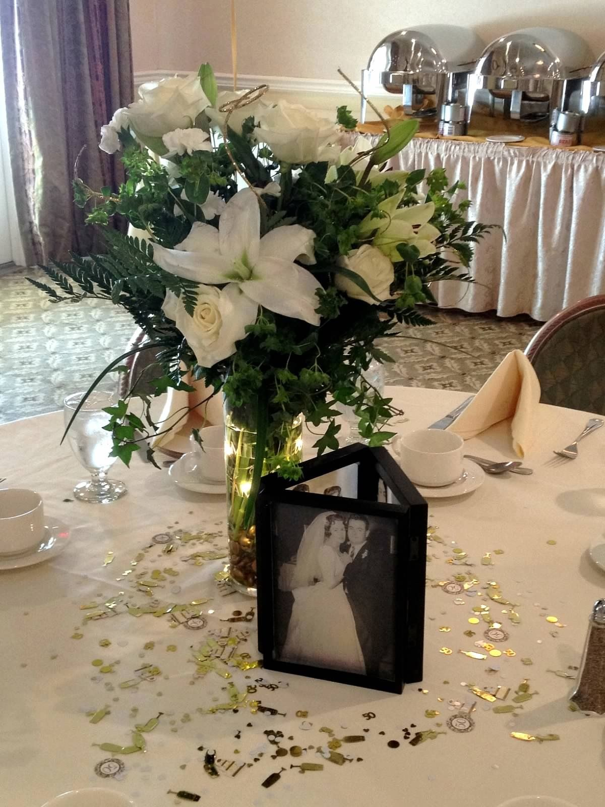 Black And White Centerpieces For Birthday Party