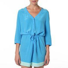 Tie Waist Dress Rain Minty, $72, now featured on Fab.