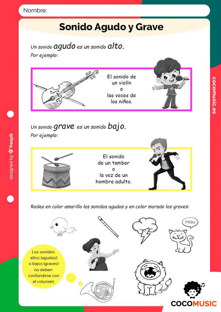 Sonidos Agudos Y Graves Juegos De Educación Musical Musica Para Niños Actividades De Educación Musical