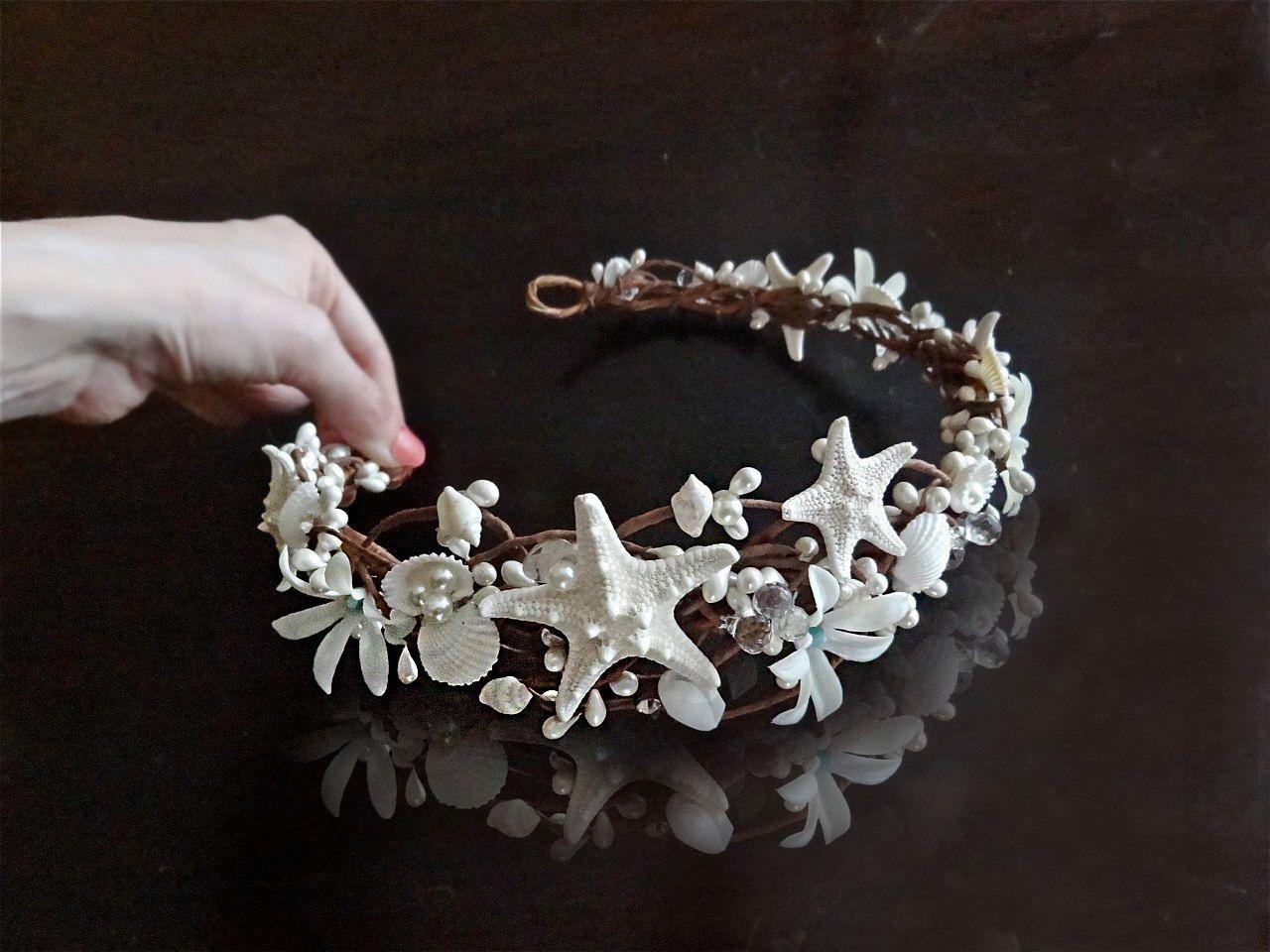 Seashell Crown Seashell Headband Starfish Hair