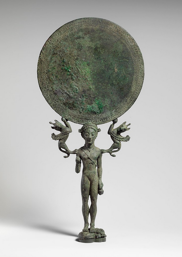 Archaic Laconian Spartan Bronze Mirror, 2Nd Half Of The -7685