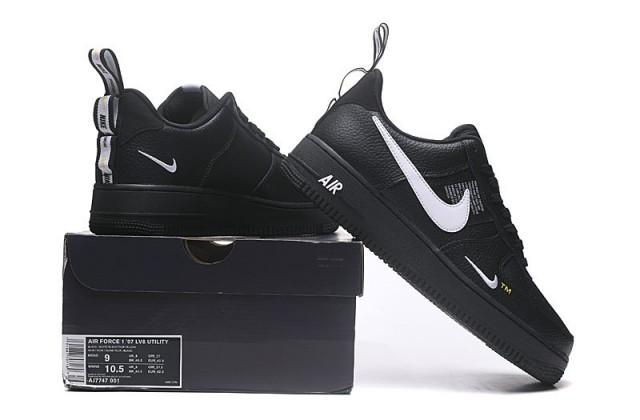 Magistrado Cerdito Delgado  Nike Air Force 1 07 LV8 Utility Men's/Women's Sneakers Shoes Black/White -  Shoesimart.com | Nike air, Black nike shoes, Casual shoes women