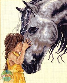 I want to cross stitch this one for my daughter. This reminds me of her, she has such a love for horses. Its truely something special.