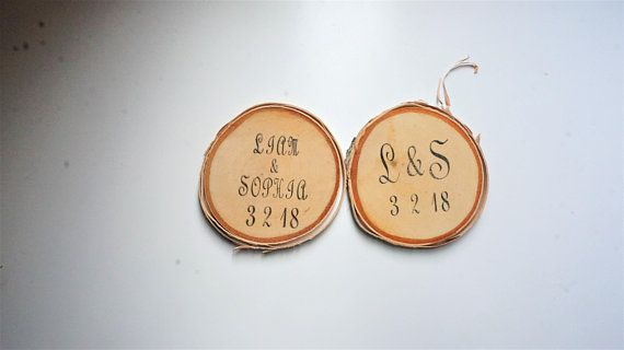 Wood Slice Wedding Favors Set Of 50, Personalized Wedding