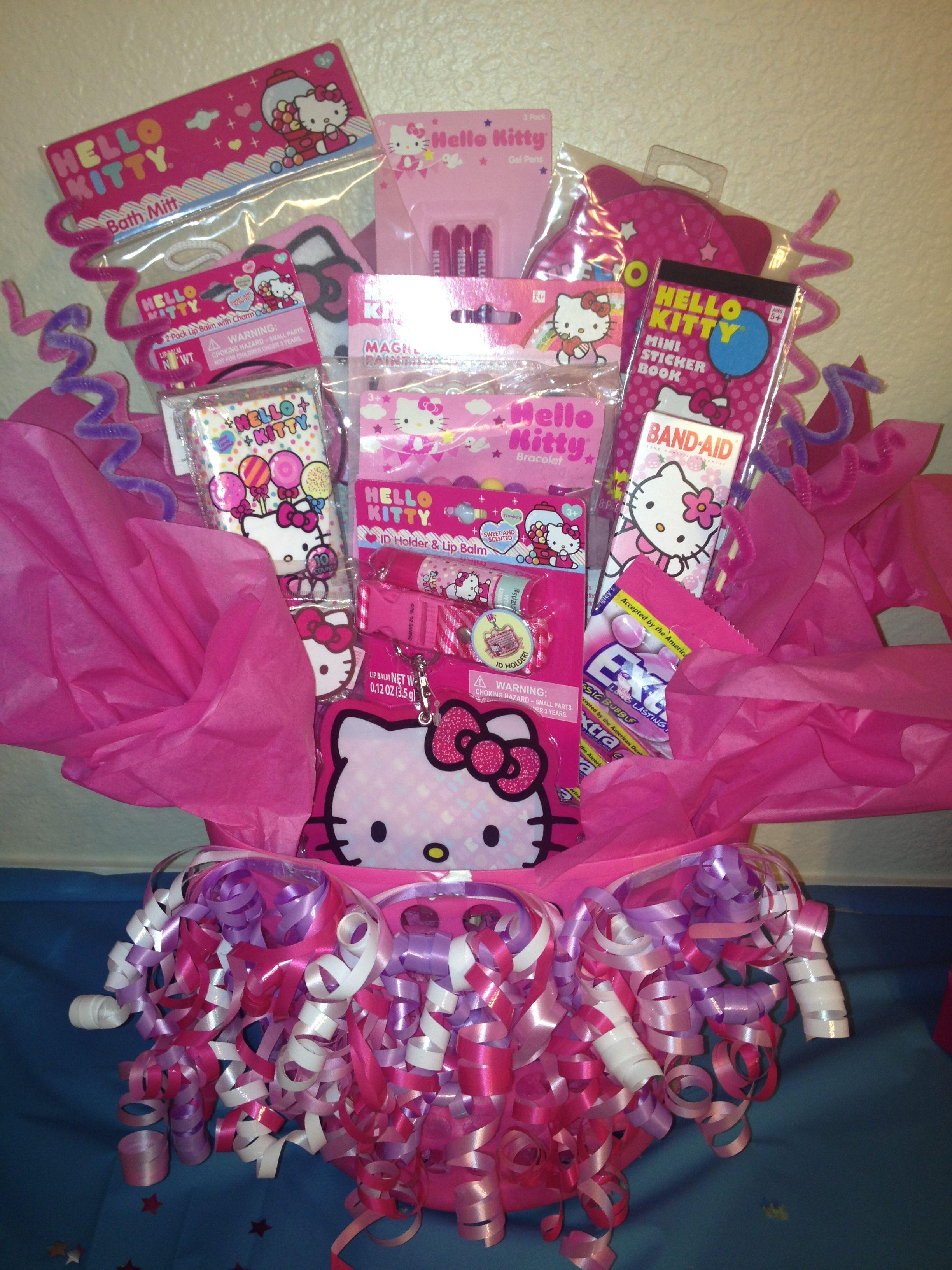 Hello Kitty birthday basket #giftbasket #hellokitty