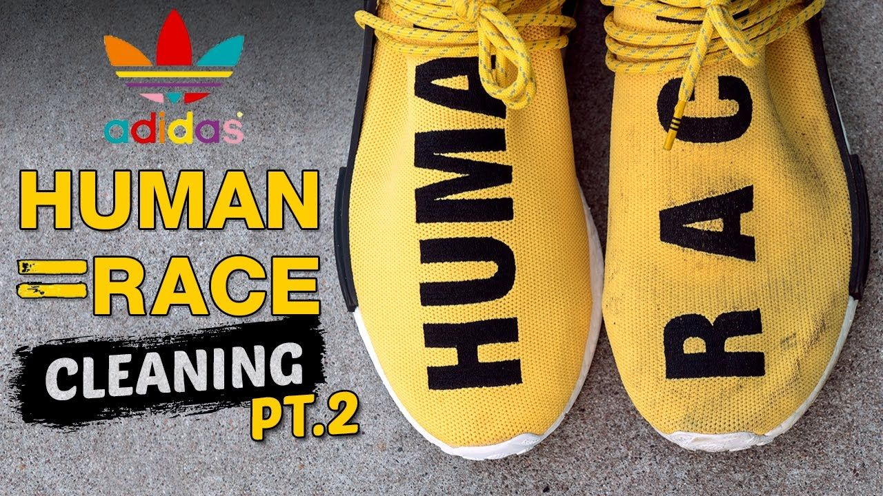 3da771705 The Best Way to clean Adidas Yellow Human Race NMD s Feels 22 Sneakers.