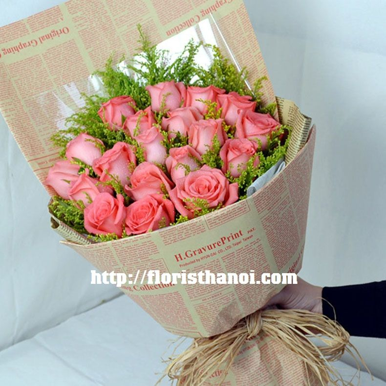 Pink roses bouquet for your girlfriend in hanoi flowers to hanoi pink roses bouquet for your girlfriend in hanoi mightylinksfo