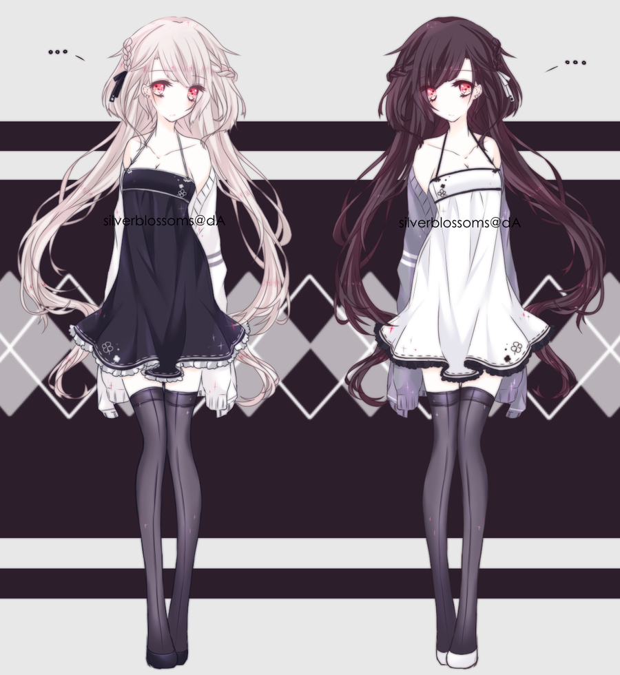 Black And White Twins by silverblossoms  Anime sisters, Anime