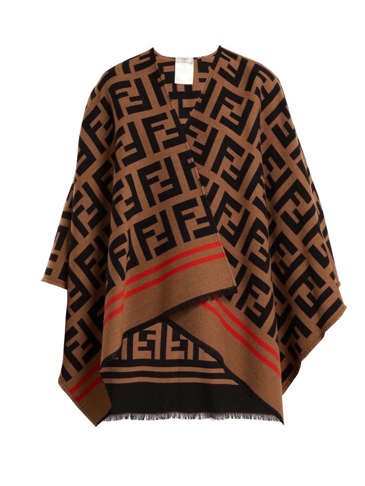 buy popular 2b093 c08bf FF logo wool-blend poncho | Fendi | MATCHESFASHION.COM | My ...