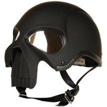 3D Skull Skeleton Matte Black Half Motorcycle Cruiser Chopper Biker Shorty Helmet DOT (L)