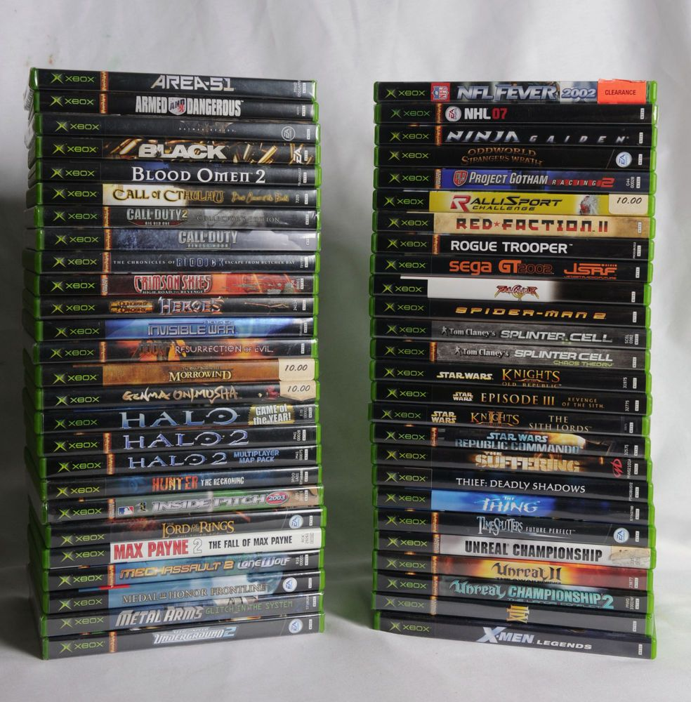 All Original Xbox Games : Lot of xbox original console games used new all