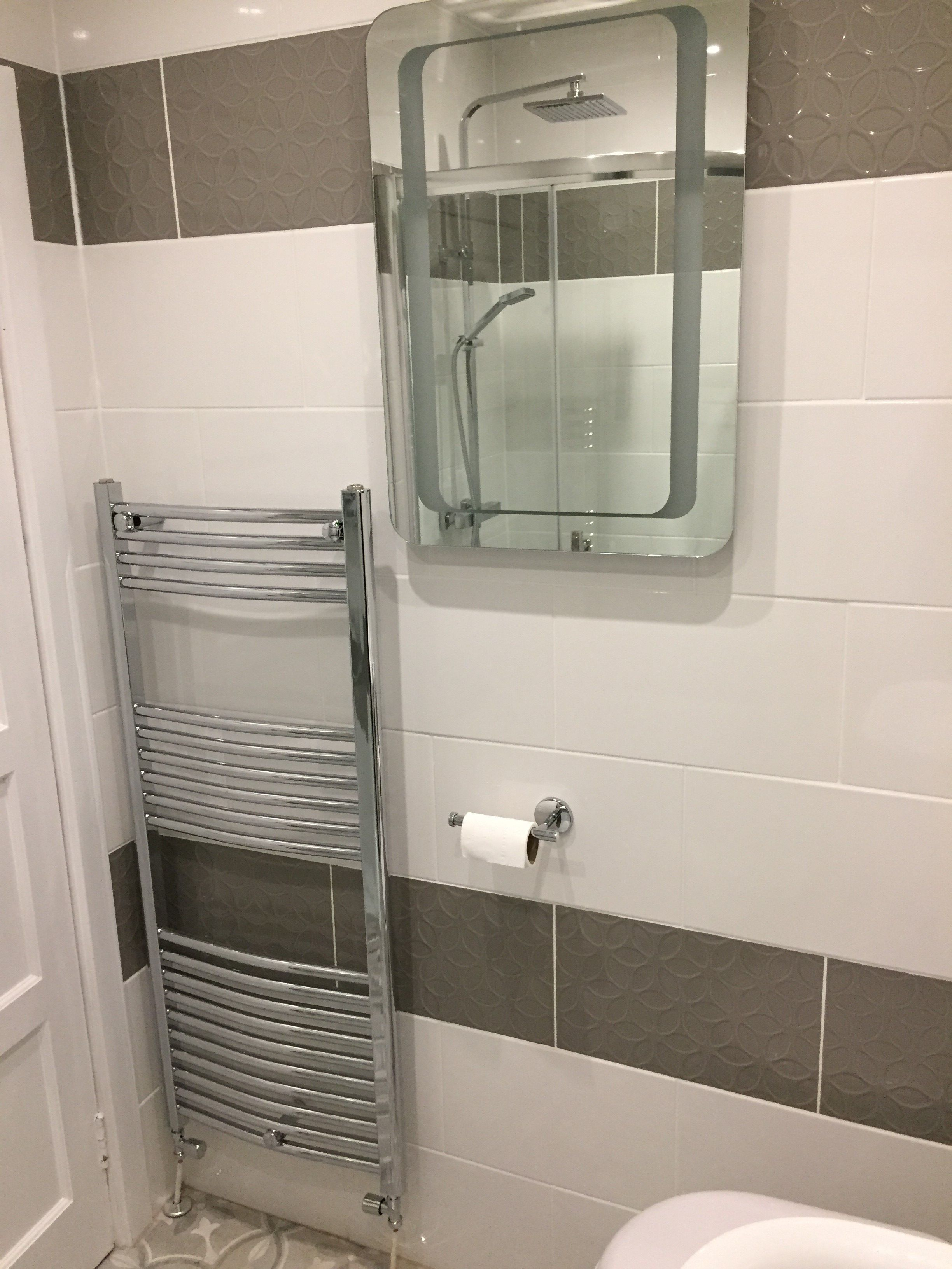 White And Grey Shower Room All Products Purchased From Wholesale