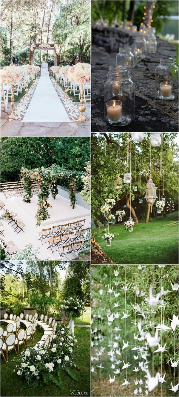 garden themed outdoor wedding decoration ideas #gardenwedding ...