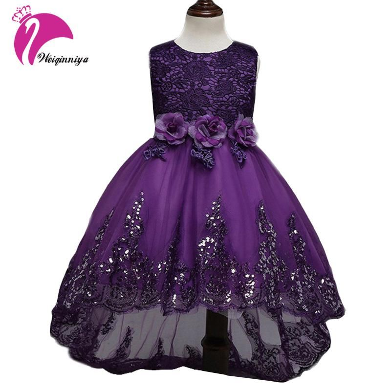 Children Girls Dress New 2017 Summer Fashion Bow Floral Kids Wedding ...