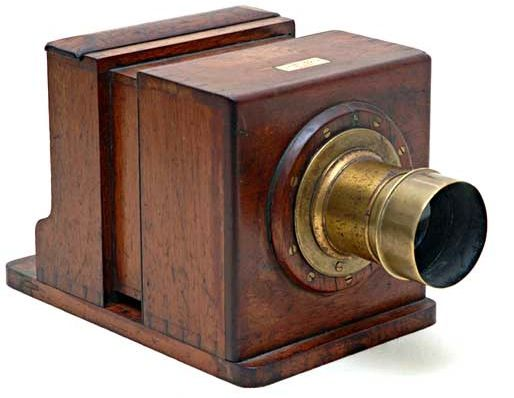 Nicéphore Niépce In 1826 Used A Sliding Wooden Box Camera Made By
