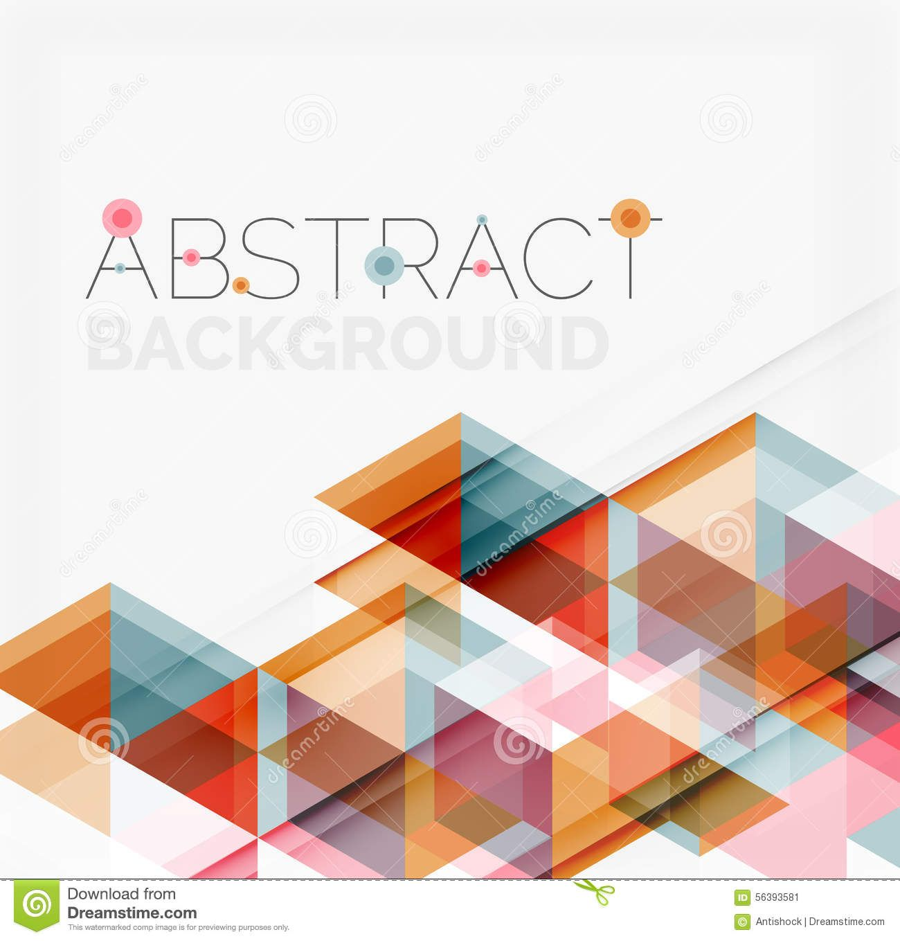 Abstract geometric background. Modern overlapping