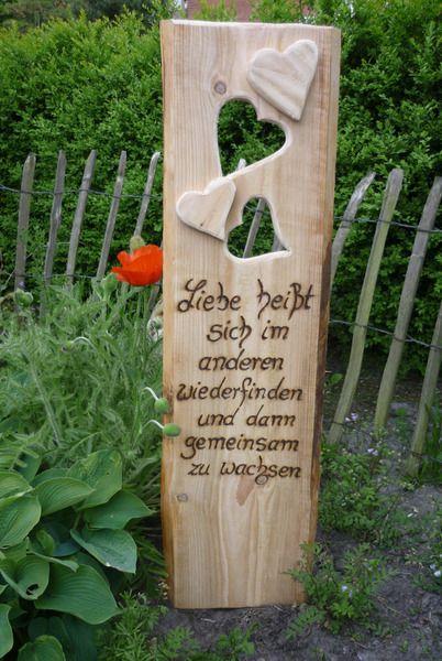 Spruch zur hochzeit rustikales holzbrett zu finden bei for Holz dekoration hochzeit